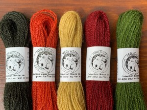 This wool sewing floss comes in warm autumn colors.