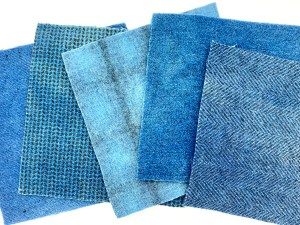 Product Photo Blue Felted Wool Squares