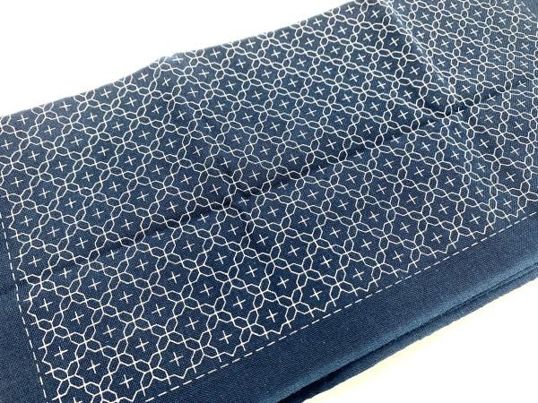 Product photo blue sashiko embroidery cloth