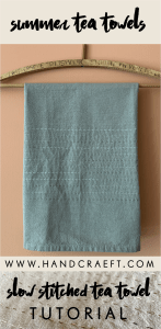 Slow embroidered tea towel project kit photo