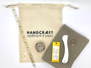 Slow embroidered tea towel project kit product photo