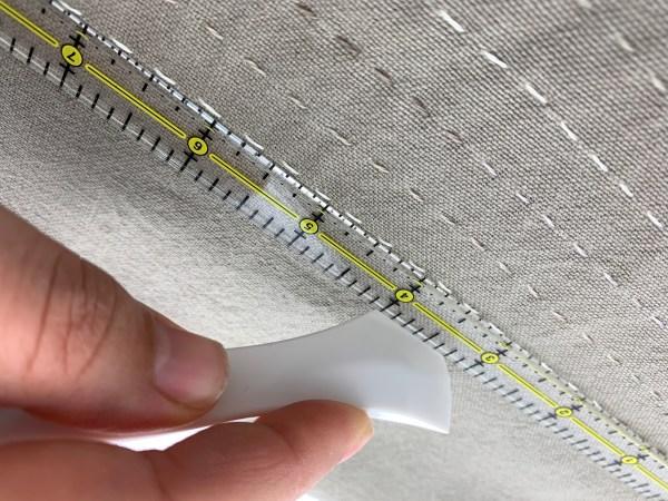 Project kit photo of sashiko stitched tea towel
