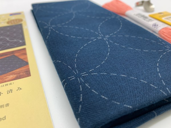 Product photo for preprinted sashiko pattern