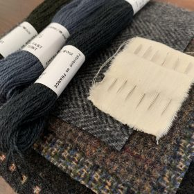 Wool fabric _ floss 018.7